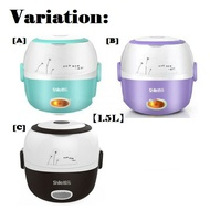 1.5L 2 Layer Electric Multi Purpose Lunch Box Soup Cooker Stainless Steel