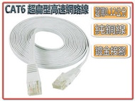 CT6-12 超扁型 CAT6 高速網路線 5米 5M 高規格 急速飆網 穩定度佳
