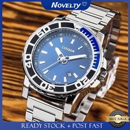 Citizen Steel Band Men's Watch Blue Fashion Waterproof Watch