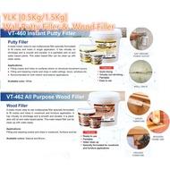 Ylk (0.5Kg / 1.5kg) Wall Putty Filler & Wood Filler Wood Filler | Gap Filler Dingding Filler | Interior & Exterior
