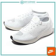 DOT 聚點 Nike Flyknit Racer 全白 編織 飛織 透氣 輕量慢跑鞋 男女鞋 526628-100