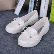 ☀ Korean Style ขายดีที่สุด☀รองเท้าคัชชูผู้หญิง Students Small Leather Shoesรองเท้าทำงาน ผญ หนัง รสีดำองเท้าบัลเล่ต์