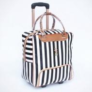 Maylin กระเป๋าเดินทาง กระเป๋าเดินทางล้อลาก กระเป๋าล้อลาก travel bag กระเป๋าเดินทางใบเล็ก กระเป๋าเดินทางมีล้อ ลายทาง รุ่น MT-003 (สีขาว/ดำ)