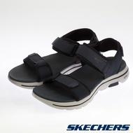 SKECHERS 男 健走系列 CABOURG GOWALK 5 涼拖鞋 - 229003-藍黑NVBK