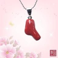 【金石工坊】頂級MOMO天然阿卡紅珊瑚尊榮項鍊