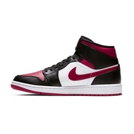 """【NIKE】AIR JORDAN 1 MID  """"BRED TOE"""" 運動鞋 飛人 中筒 8孔 籃球鞋 紅 黑 男鞋 -554724066"""
