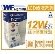 舞光 LED 12W 6500K 白光 E27 全電壓 微波感應球泡燈 _ WF520205