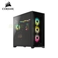 Corsair 海盜船 iCUE 4000X RGB 鋼化玻璃中塔ATX機殼—黑色(ATX/鋼化玻璃/內建前置RGB風扇*3/顯卡360mm/塔散170mm)-CC4000XRGB-BK