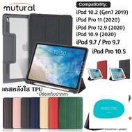 ร้านแนะนำMutural เคส iPad 10.2/Pro11/Pro12.9 เคสกันกระแทก เคสไอแพตแบบมีฝาปิด มีช่องปากกา iPad Case With Apple Pencil