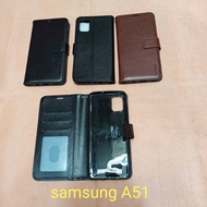 Flip leather case for Samsung A51 flipcase flipshell silicone flip cover