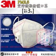 《My Ga 買嘎》3M 9501V-帶閥型 (3入) 有效防護 PM2.5 現貨新品
