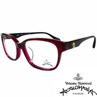 【Vivienne Westwood】ANGLO MANIA系列-時尚款俏皮土星光學眼鏡(AN284-01-黑)