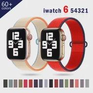 สำหรับ Apple Watch Band 44มม.40มม.42มม.38มม.Smartwatch Watchband Correa กีฬาไนลอนห่วงเข็มขัดสร้อยข้อมือ IWatch Series 4 5 SE 6