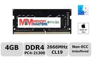 MemoryMasters 4GB DDR4 2666MHz PC4-21300 SODIMM メモリアップグレード Mac Mini 8,1 2018 3.0 GHz Core i5/ 3.2 GHz Core i7/ 3.6 GHz Core i3用