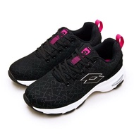 【LOTTO】女 增高厚底美型健走鞋 EASY WEAR 系列(黑桃紅 1190)
