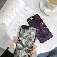 蘋果手機殼 復古金屬風鐳射錫紙 蘋果6手機殼iPhone7plus/8/6s/X創意硅膠軟殼     非凡小鋪