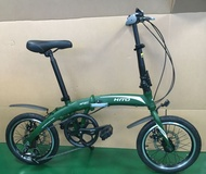 Hito 16-inch foldable bicycle (aluminum) Home Foldable Bike Male and Female Young Adult Small Bicycle