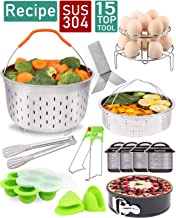 Instant Pot Accessories Set Compatible with Instant Pot 6,8 Qt 13 Pcs - Steamer Basket, Springform Pan, Silicone Egg Bites