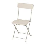 IKEA SALTHOLMEN 戶外餐椅, 折疊式 米色