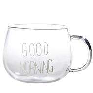 Stockhome Coffee แก้ว Good morning แก้วกาแฟ แก้วพลาสติกใส  เครื่องทำกาแฟ แก้วน้ำพาสติก แก้วเก็บเย็น แก้วน้ำใส แก้วน้ำน่ารัก glass ถ้วยไอศครีม แก้วไอติ