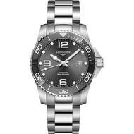 LONGINES 浪琴 深海征服者浪鬼L37824766灰陶瓷潛水機械錶-灰x銀/43mm 送品牌禮物