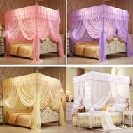 Four Corner Post Flowers Bed Canopy Mosquito Netting Twin Full Queen King Size(Not Include Bed Frame