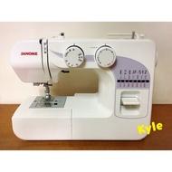 (現貨)車樂美JANOME JF-512 全迴轉 機械式縫紉機(防水壓腳)