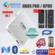 #SG Version + Free Air Mouse# UnblockTech Gen 5 UPro OS 7 BT Local Official 1 Year Warranty