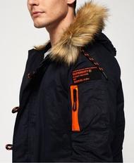 跩狗嚴選 代購 極度乾燥 Superdry 極深藍 加厚刷毛 重磅大衣外套 連帽風衣 防風保暖