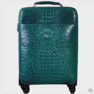 Heimanba จระเข้ Universal ล้อชายและหญิงกระเป๋าเดินทางซิปกระเป๋าเดินทาง18นิ้วรหัสผ่านกระเป๋าเดินทางหน...