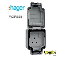 hager IP66 13A DP Single /Twin Switched Socket Outlet