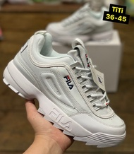 🎀(On Sale)รองเท้าFila Disruptor (รีวิวจากงานจริง) รองเท้าผ้าใบ รองเท้าวิ่ง รองเท้าแฟชั่น🎀