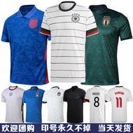 แห่งชาติเยอรมันเสื้อเชิ้ตทีมยูโร2021อังกฤษชุดฟุตบอลอิตาเลี่ยน Custom Men