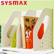 文件架韓國SYSMAX文件框文件架兩欄加厚書架簡易桌上用文件夾資料框書本收納盒桌面辦公文具書立架子學生用文件欄筐【DD5518】