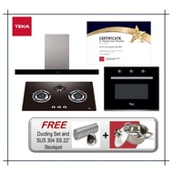 Teka Hood LDH-TC Hood (1200m3/h) + Hob GS82 3G AI AL TR (4.5KW) + Oven TL 615B (8 Cooking Functions) with Free Gift