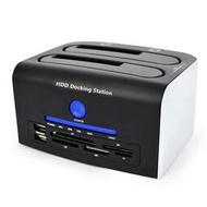 kdata 3.0立式硬盤盒雙硬盤底座脫機對拷SATA3帶讀卡器2.53.5通用