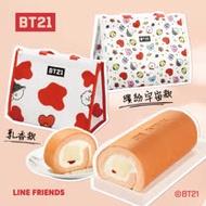 【亞尼克】超萌宇宙明星BT21限定推出❤草莓多多生乳捲2條+保冷袋(乳香款/宇宙繽紛款)