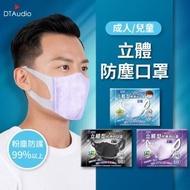 【藍鷹牌】兒童成人立體型防塵口罩 兩入組(立體口罩 一體成型款 3D立體設計 粉塵防護 防止飛沫塵)