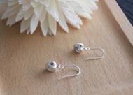 燈籠果 - 純銀耳環