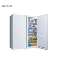 【台南家電館】SANLUX台灣三洋181公升直立式冷凍櫃《SCR-181A3》