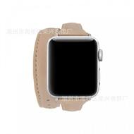 สำหรับนาฬิกาแอปเปิ้ล Applewatch3456รุ่นยาว Double Loop Strap Slimming จริง Cowhide Band ขายส่ง