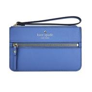 【KATE SPADE】簡約亮藍色防刮牛皮手拿包(WLRU1859-407)