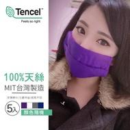 台灣製造100%天絲可水洗口罩保護布套(5入/顏色隨機/口罩收納)