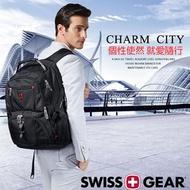 SG-03現貨正新品SWISSGEAR瑞士軍刀雙肩包USB旅行包17吋大容量休閒運動包電腦包商務包