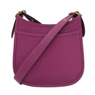 【COACH】熱銷新版寬背帶斜背包馬鞍包彎月包(紫)