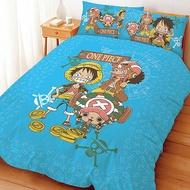 (免運費/現貨)正版授權台灣製卡通寢飾/床組【One Piece航海王/海賊王-尋寶之路】單人床包組/雙人床包枕套組/被套/被單/兩用被/鋪棉被套(可當涼被)/枕頭套