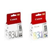 CANON㊣原廠墨水匣PG-830 + CL-831(1黑1彩共2顆) 適用CANON iP1880/iP1980/MP145/MX308/MX318/MP198印表機墨水夾PG830/CL831