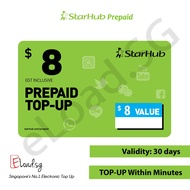 STARHUB Prepaid $8 eTop-Up - 24 Hours Instant Delivery!