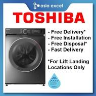 TOSHIBA TW-BK115G4S 10.5KG REAL INVERTER DARK GREY FRONT LOAD WASHING MACHINE