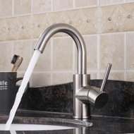 304 stainless steel basin faucet sink ceramic basin hot and cold faucet